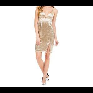 Gold Amira slip dress